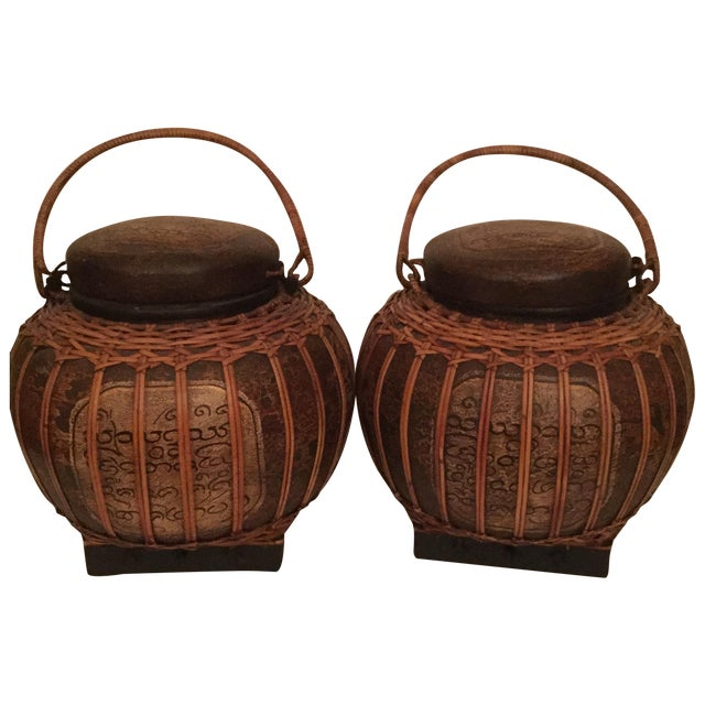 Chinese Baskets- A Pair - Image 1 of 3