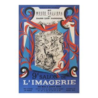 1948 Vintage Salon de l'Imagerie French Exhibition Poster