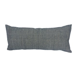 Tibal Indigo Embroidered Lumbar Pillow