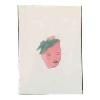 Minimal Face Watercolor Portrait Painting