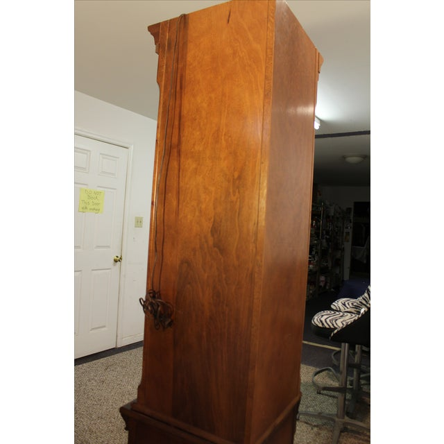Two-Piece Lighted Cherry Curio Corner Cabinet - Image 11 of 11