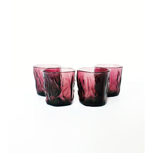 Vintage Purple Amethyst Glasses - Set of 4 - Image 2 of 4