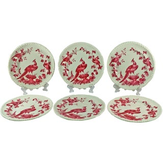 Copeland Spode Black Bird Butter Plates - Set of 6