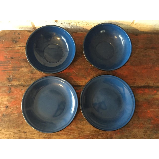 Image of Blue and Black Rim Enamelware Set - 5 Pieces