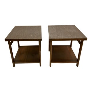Lane Mid-Century Modern Virginia Maid End Tables - A Pair