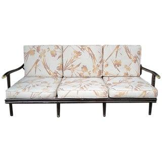 Mid-Century Bamboo Print Sofa