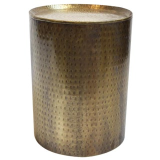 Brass Hammered Side Table