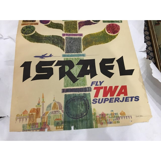 1960 David Klein 'TWA Israel' Poster - Image 8 of 9