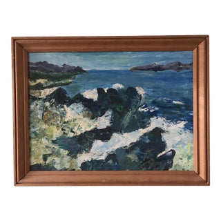Abstract Expressionist Sea Coastal Landscape Painting