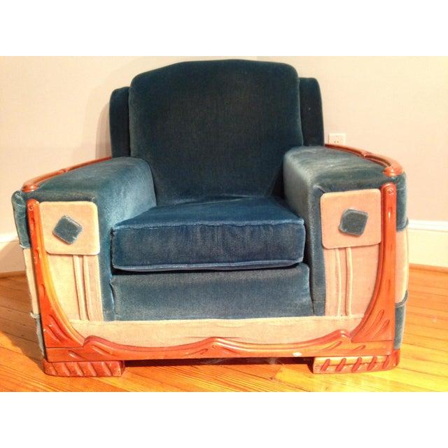 Art Deco Mohair Sofa & Armchair - A Pair - Image 5 of 11