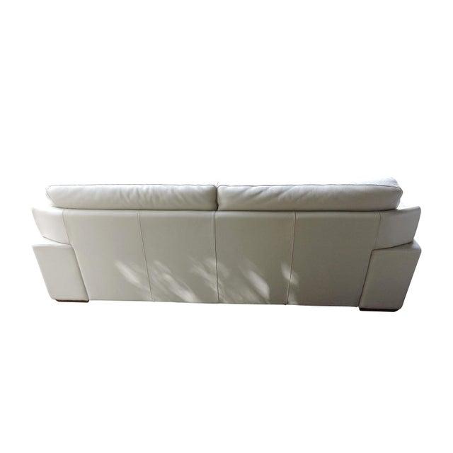 Natuzzi Beige Leather Sofa Set Settee Amp Arm Chair Chairish