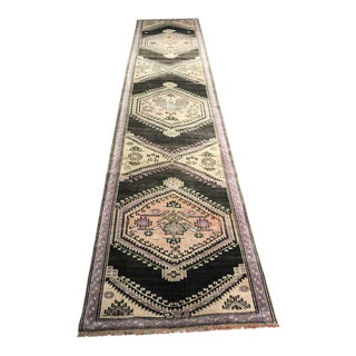"Vintage Turkish Oushak Runner ""Olivera"" - 13' x 2'11"""