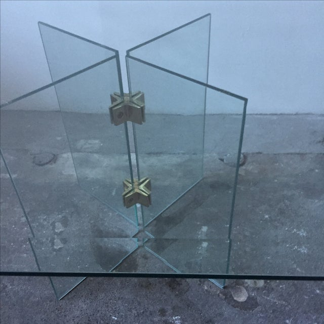 Leon Rosen Pace Collection Glass Coffee Table - Image 8 of 10