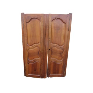 Antique French Armoire Doors - A Pair