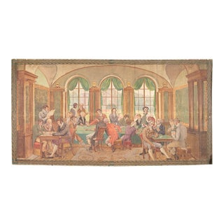 19th Century French Painted Canvas by Louis Alphonse David