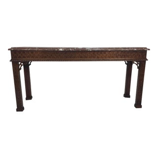 Henredon Chinese Chippendale Style Console
