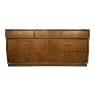 Huntley by Thomasville 7-Drawer Campaign Lowboy Dresser