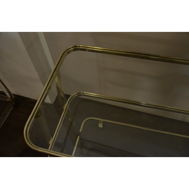 DIA Three-Tier Brass and Glass Bar, Drinks, Tea or Service Cart /Trolley - Image 5 of 11