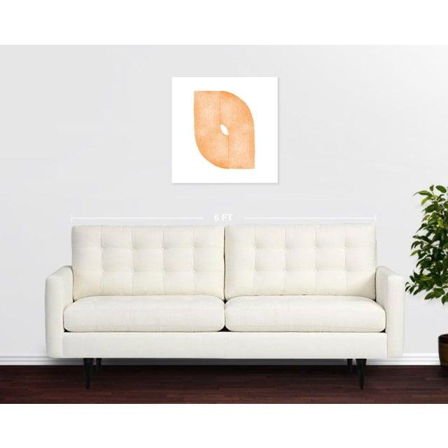 "Jessica Poundstone ""Tangerine Curves: Soft Geometry"" Print - Image 3 of 4"