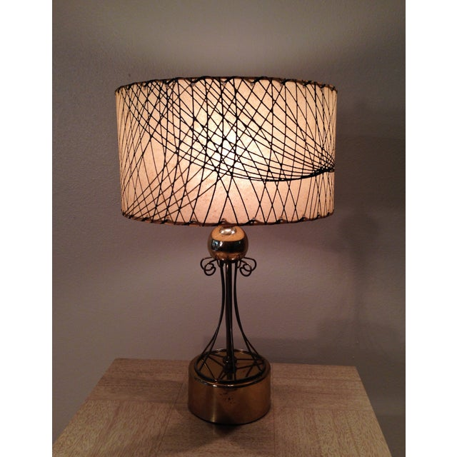 Atomic Era Brass Table Lamp - Image 6 of 6