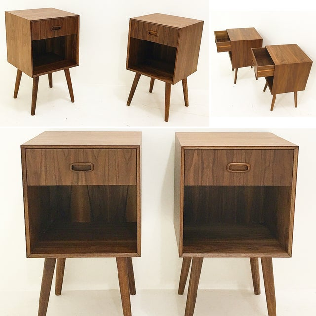 Mid-Century Style Nightstands - A Pair - Image 3 of 3