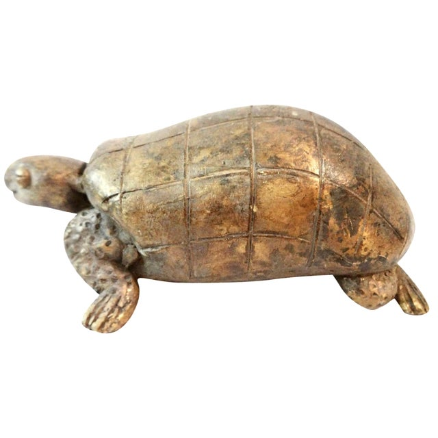 Image of Bronze Akan Cote d'Ivoire Turtle