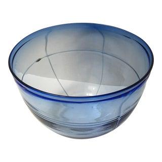 Blue Handblown Art Glass Bowl