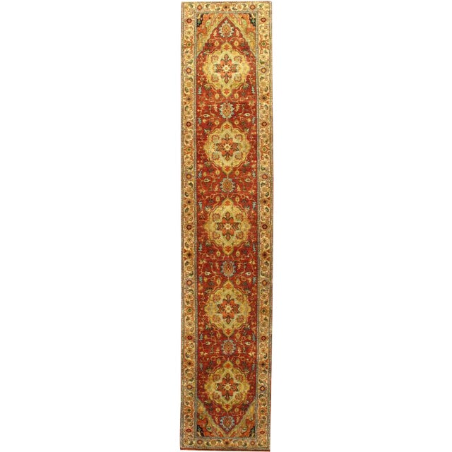 """Pasargad Hand-Knotted Serapi Rug - 2' 5"""" X 11' 10"""" - Image 1 of 2"""