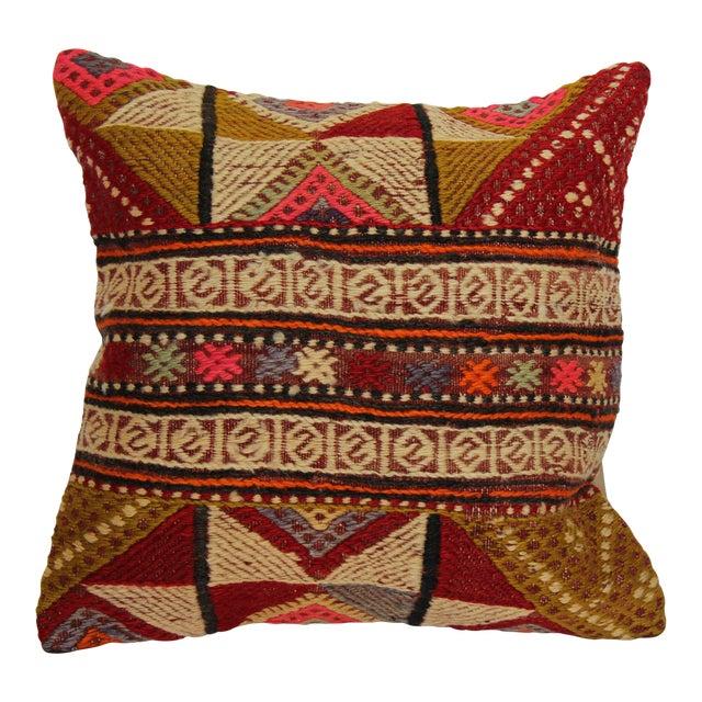 "Kilim Pillow Handmade Pillowcase Boho Chic Vintage - 16"" x 16"" - Image 1 of 7"