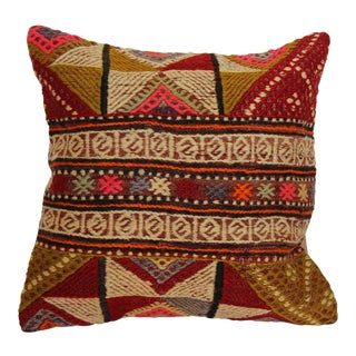 "Kilim Pillow Handmade Pillowcase Boho Chic Vintage - 16"" x 16"""