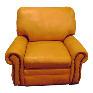 "American Leather ""Santiago"" Caramel Brown Leather Rocker"