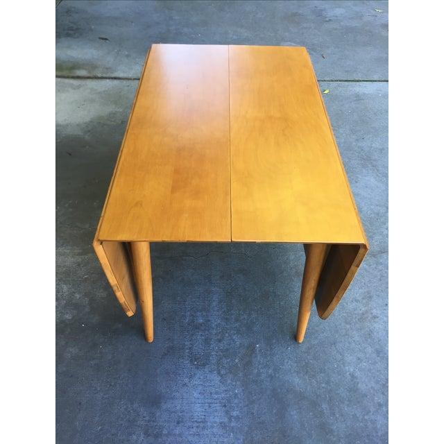 Mid-Century Modern Drop Leaf Wood Table - Image 5 of 8