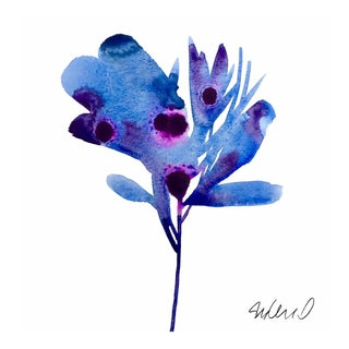 Premium giclee print of botanical blue pedal