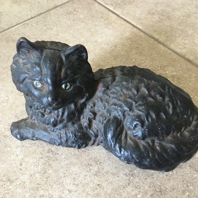 Antique Hubley Cast Iron Persian Cat Doorstop - Image 5 of 10