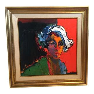 Framed Oil on Canvas Portrait by Henrietta Berk