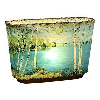 Lake & Birch Tree Scene Lamp
