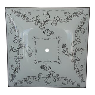 Vintage Ceiling Shade, Square with Leaves