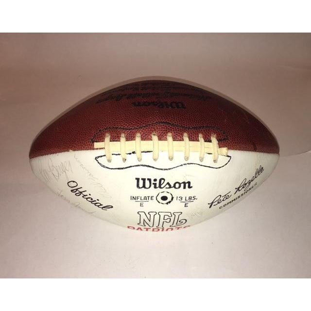 Image of Vintage Autographed New England Patriots Football