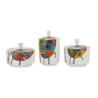 Contemporary Modernist Style Ceramic Glazed Jars - Set of 3