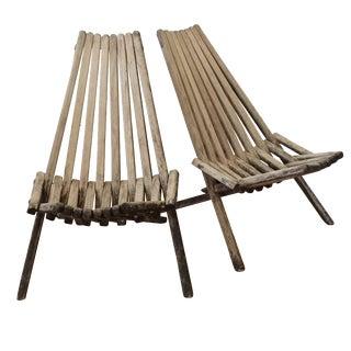 Danish Modern Clam Chairs - A Pair