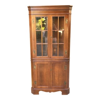 Craftique Mahogany & Cherry Corner Cupboard