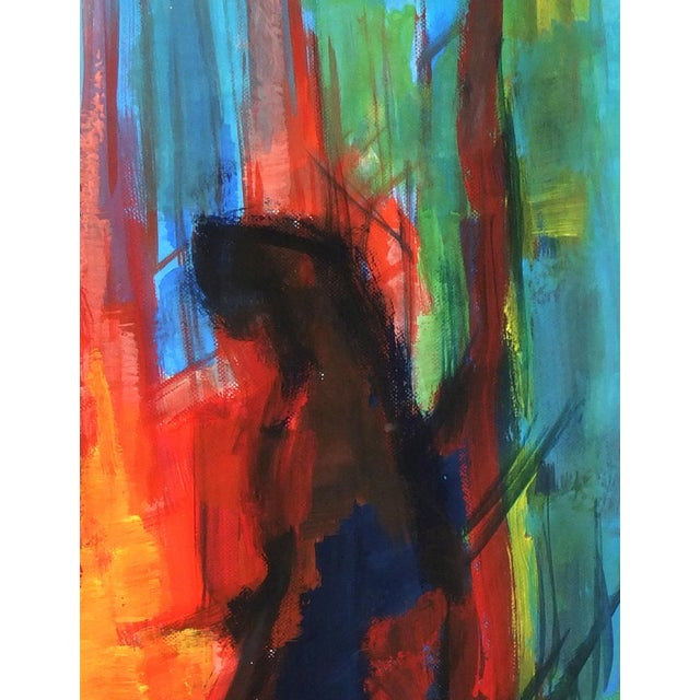 Original French Abstract Modern Art Painting - Image 2 of 3