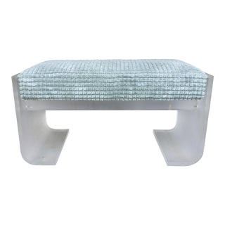 Large Frosted Lucite Bench