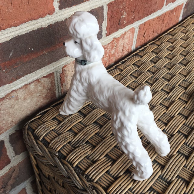 Vintage Ceramic Staffordshire Style Poodle Dog Figurine - Image 4 of 11