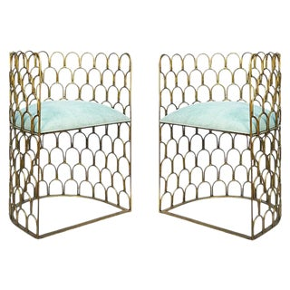 Justinian Metal Accent Chairs - Pair