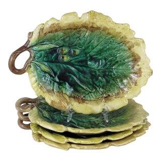 Oak Leaf & Acorn Etruscan Majolica Serving Dishes - Set of 4