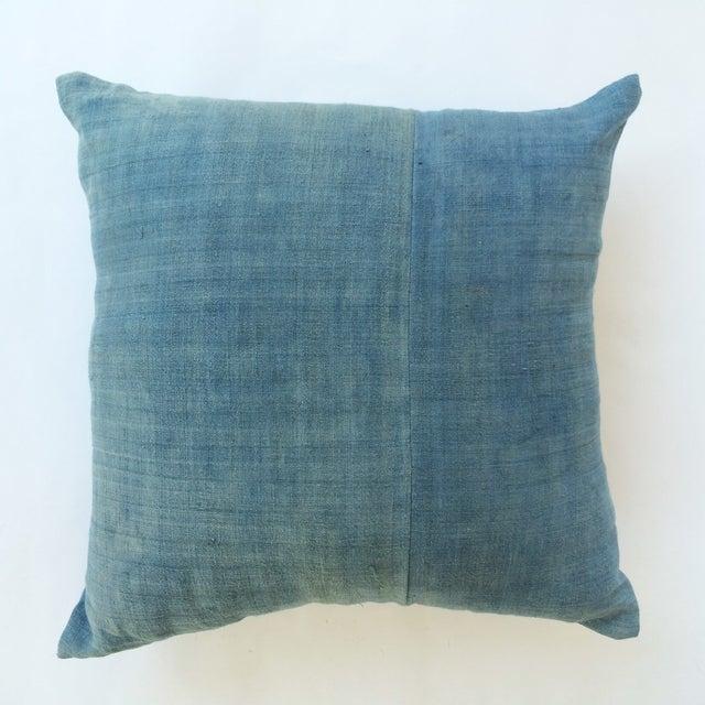 Image of Hand Woven Light Blue-Indigo Hemp Pillow