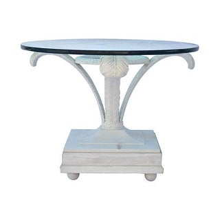 Feathered Base Glass Topped Coffee Table