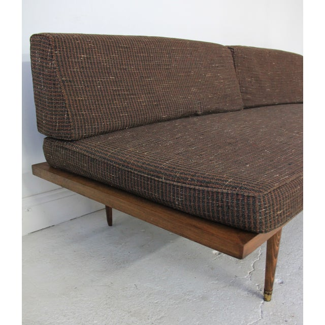 Mid century modern day bed sofa chairish for Mid century modern day bed