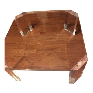 Charles Hollis Jones Mid-Century l'Ami Lucite Coffee Table